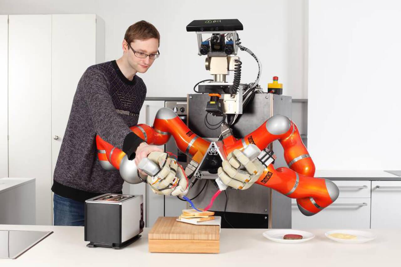 Robôs estão aprendendo a realizar tarefas domésticas com o projeto RoboHow
