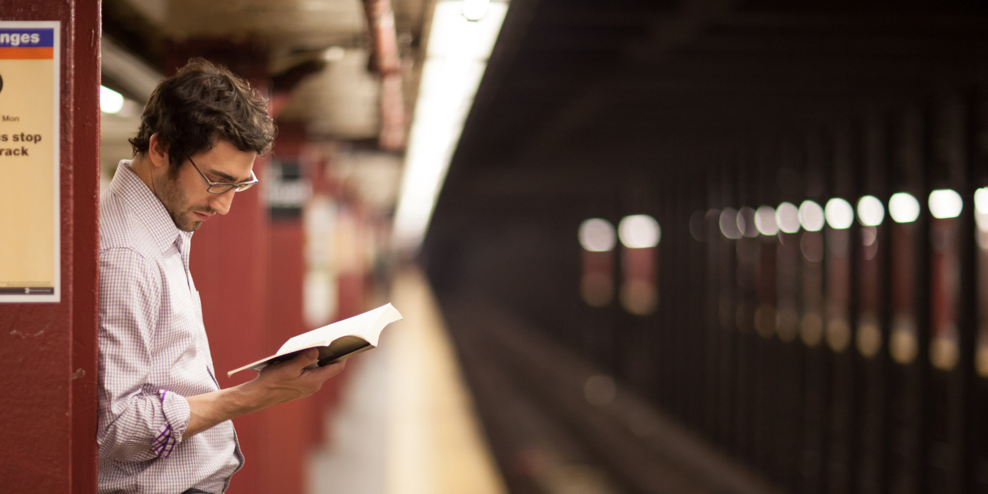 Waiting and Reading in the Subway