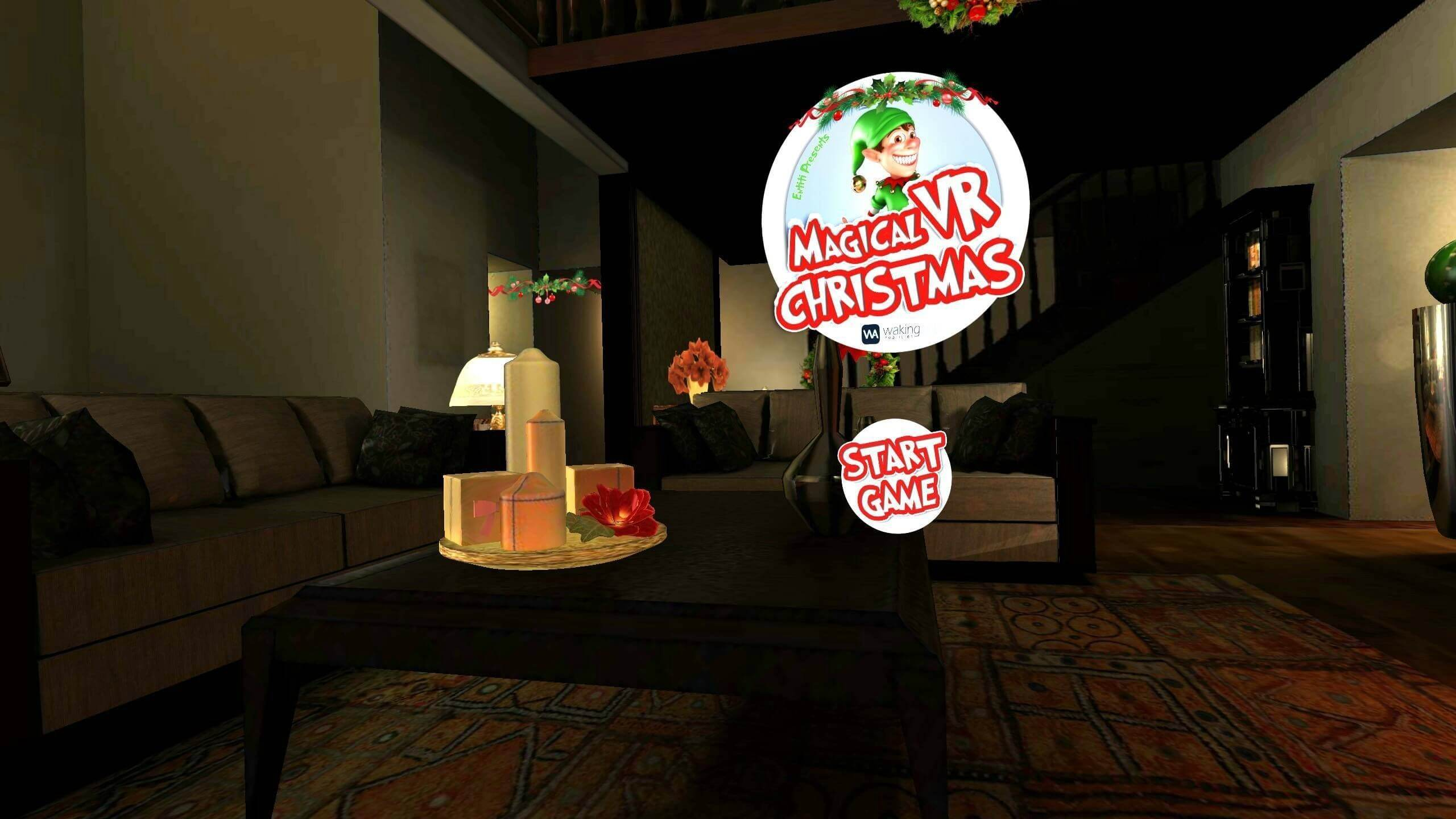 Screenshot from WakingApp's Magical VR Christmas experience, now available on ENTiTi Viewer for iPhone and Android. (PRNewsFoto/WakingApp)