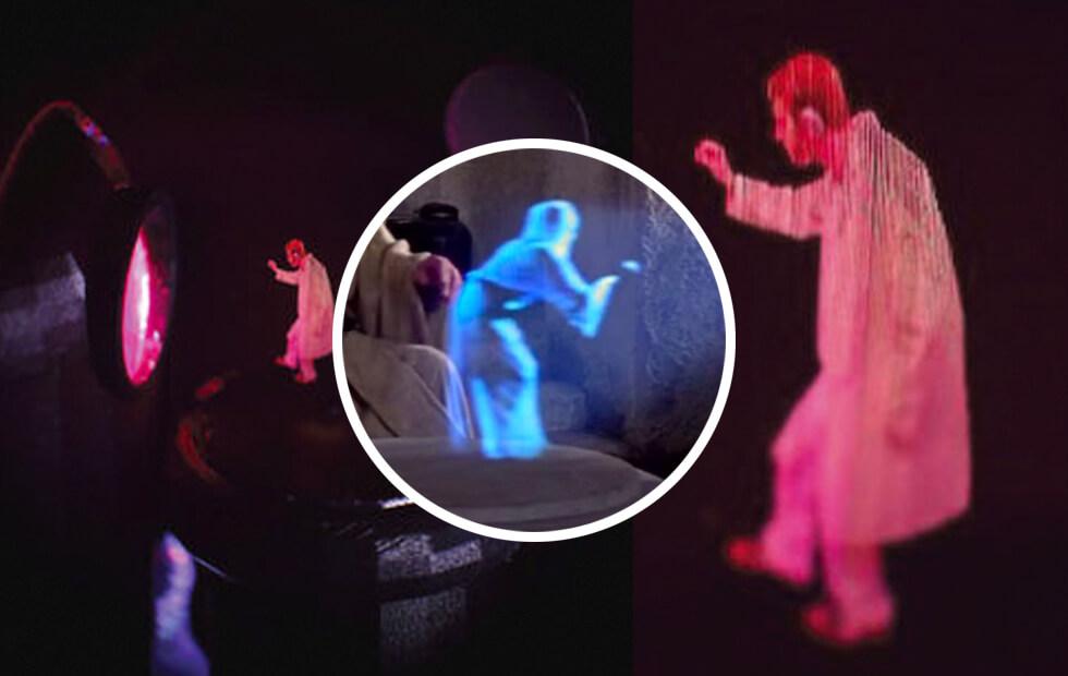 Projeto Princesa Leia: imagens 3D volumétricas que flutuam no ar
