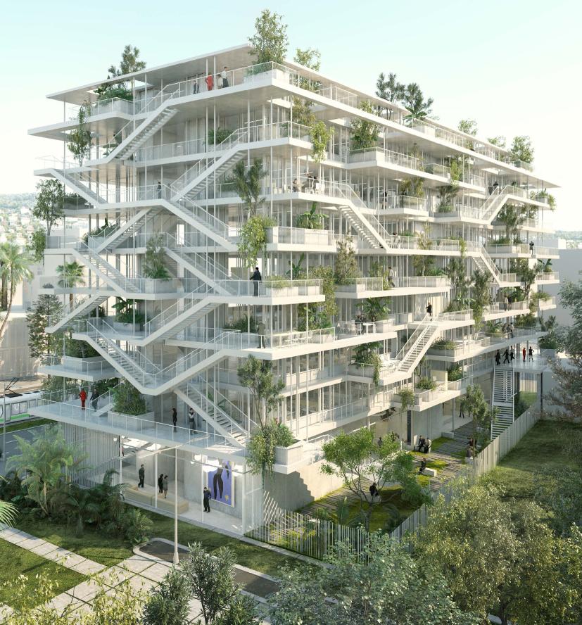 Edifícios do futuro serão abertos para um jardim