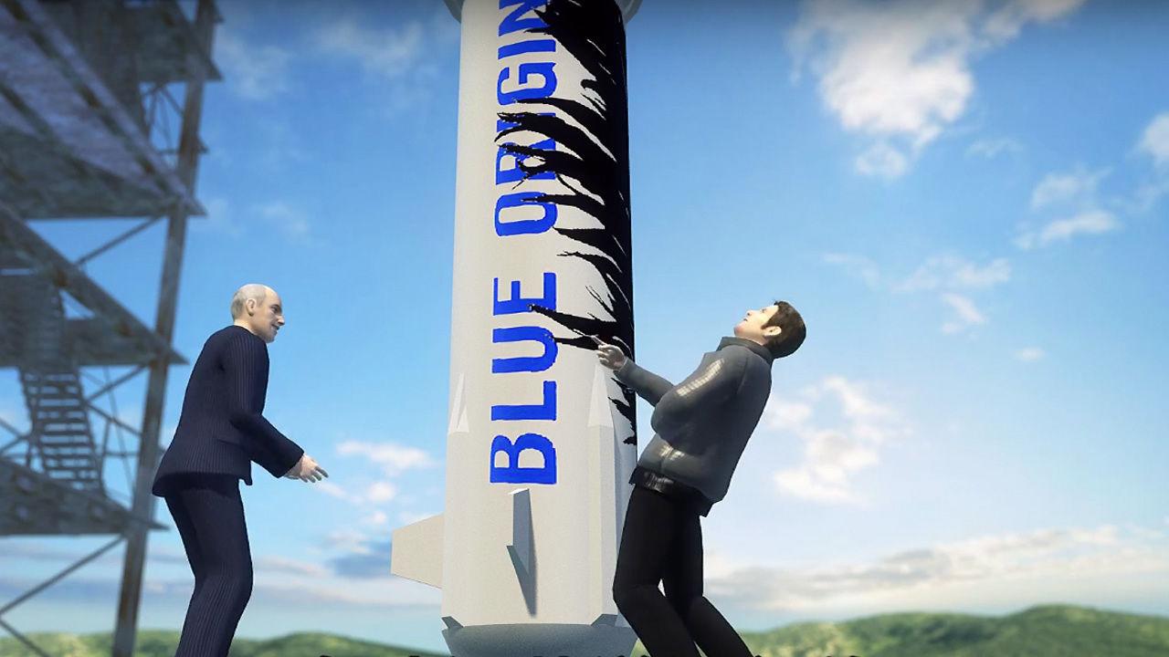 Elon Musk mostra a Jeff Bezos quem é o melhor na corrida espacial