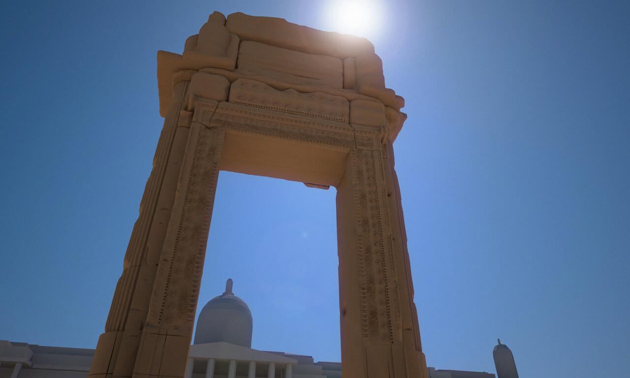 A tecnologia digital irá reconstruir o arco do Templo de Bel em Nova York e Londres