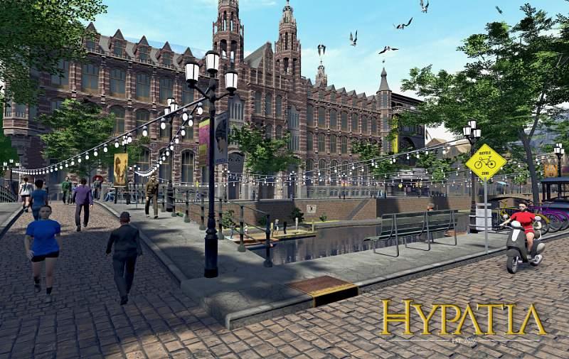 Hypatia, a primeira cidade onde a colaboração e a criatividade são a moeda